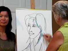 One Line Portrait. The sound quality on the video isn't great, but you can see how the artist makes a portrait using just one continuous line. Line Drawing, Drawing Ideas, Line Art Lesson, Continuous Line, Graphite Drawings, Elements Of Art, Teaching Art, Art Lessons, 2d