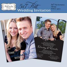 5 x 7 Printable DIY wedding invitation by TanyasPrints on Etsy