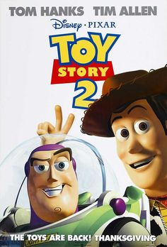 Toy Story 2 is a 1999 American computer-animated comedy adventure film produced by Pixar Animation Studios and released by Walt Disney Pictures. It is the sequel to the 1995 film Toy Story. Film Pixar, Pixar Movies, Kid Movies, Family Movies, Great Movies, Animation Movies, Movies Free, Disney Animation, Disney Movie Posters