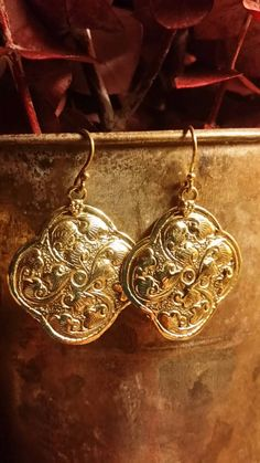 Check out this item in my Etsy shop https://www.etsy.com/listing/250481034/hammered-brass-earrings-etched-tribal