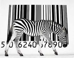 the Art of the Barcode: Zebra Arte Zebra, Zebra Kunst, Zebra Art, Barcode Art, Barcode Design, Man Vs Nature, Wild Nature, Street Art, Wow Art