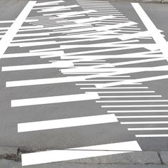The Zebra Crossing Project by Eduard Čehovin?  This project shakes up the usual arrangement of pedestrian crossing stripes.