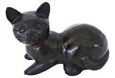 Ebony Cat on OneKingsLane.com Garden Sculpture, Lion Sculpture, Statue, Cats, Outdoor Decor, Black, Home Decor, Gatos, Homemade Home Decor
