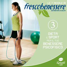 Regola n. 3: dieta e sport per il perfetto benessere psicofisico