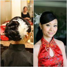 Asian bridal makeup and hair updo, Toronto