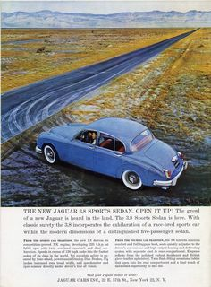 Vintage Jaguar Sports Sedan - 1960