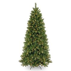 75 ft Lehigh Valley Pine Slim Hinged Dual LED Christmas Tree -- See this great product.