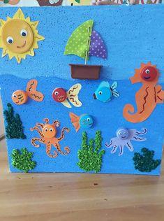 Mes del mar Summer Preschool Activities, Creative Activities For Kids, Kindergarten Crafts, Easy Crafts For Kids, Summer Crafts, Toddler Crafts, Preschool Crafts, Toddler Activities, Art For Kids
