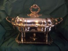 Concord 4pc Magificent Silverplate Rect Chafing Dish w Sterno Vintage | eBay