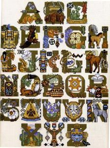 Native American Cross Stitch Alphabet