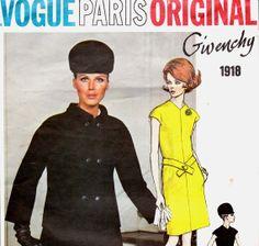 Sz 12 60s Vintage Vogue Paris Original by allthepreciousthings