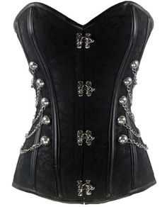 Loi.color Black Brocade Steampunk Corset with Chains Full Steel Boned M Loi.color http://www.amazon.com/dp/B00ET7TXPI/ref=cm_sw_r_pi_dp_DkMbvb031MW6S