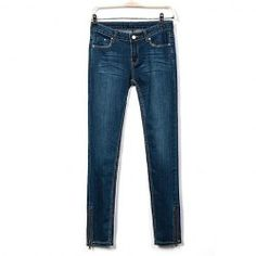 $13.53 Stylish Slimming Blue Denim Skinny Jeans For Women