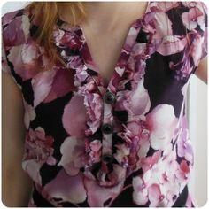 Cherryblossom dress details