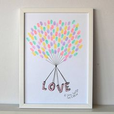 personalised love strung fingerprint poster by love those prints | notonthehighstreet.com