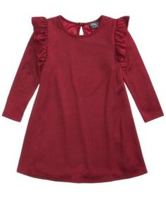 5b735d881b1b7 Pink & Violet Ruffle Sweater Dress, Little Girls (4-6X) & Reviews - Dresses  - Kids - Macy's