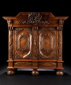 Baroque Wardrobe, Danzig 17/18th century.