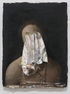 "Nicola Samori About Africans (gli occhi nel petto), 2013, oil on wood, 15 x 11 inch. This painting was exhibited at ""Die Verwindung"" at Galleria Emilio Mazzoli in Modena in January 2013"