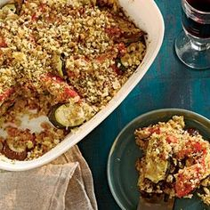 Tian, a French word used throughout Provence, refers to both a shallow cooking vessel and the food cooked in it. An 11 x 7-inch glass or ceramic baking dish works well for this eggplant, zucchini, and tomato creation, but if you have a 2-quart tian or gratin dish, all the better.