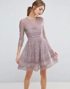 Asos premium lace skater dress