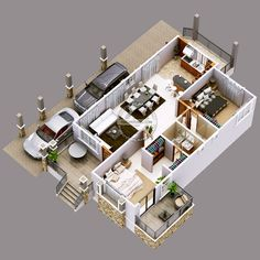 This luxury elevated house design can be built in a 355 square meter lot having a minimum frontage width of meters maintaining meters setback on both sides. Elegant Home Decor, Easy Home Decor, Elegant Homes, House Floor Design, Bungalow House Design, One Storey House, 2 Storey House Design, Model House Plan, My House Plans