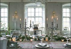 Christmas dinner table.