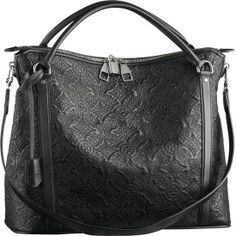 LOUIS VUITTON ANTHEIA IXIA MM M97064 -Calfskin leather trimmings and handles -Shiny silver brass hardware -Thin Toron handles and removable strap for shoulder carry -Double zipped closure -Interior zipped pocket and 2 patch pockets -Soft Microfibre lining -Base feet