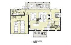 Farmhouse Style House Plan - 3 Beds 2.5 Baths 2355 Sq/Ft Plan #901-132 Floor Plan - Main Floor Plan - Houseplans.com