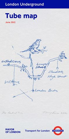 Edgware branch … Tracey Emin's design for the London tube map.