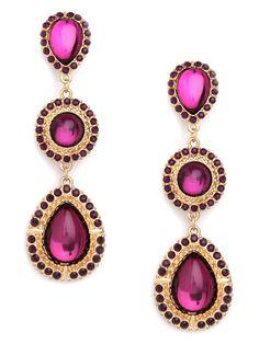 Nina Garcia for BaubleBar Violet Triple Drops