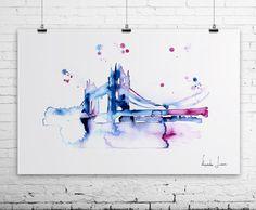 London Travel Illustration - Art Print - Watercolor Painting