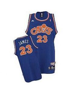 LeBron James Cleveland Cavaliers 2008 Hardwood Classics Retro Blue Jersey 458f862c140b
