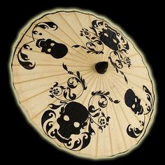 Skull Parasol - My daughter would love this - maybe for her Birthday