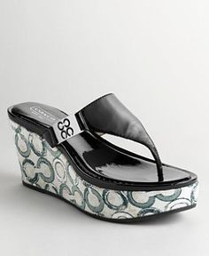 !@Best Buy Coach Jan Crinkle Patent Wedge Sandal A0250    Price: $157.00    .Check Price >> http://loanoneday.com/sale/landingpage.php?asin=B0051PX0II