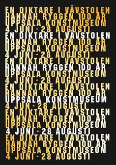 Gábor Palotai Design  Exhibition posters for Uppsala...