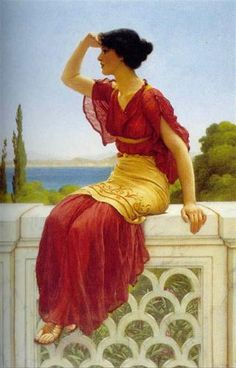 The Signal by John William Godward
