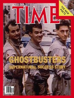 Ghostbusters on the cover of TIME Magazine, 1983