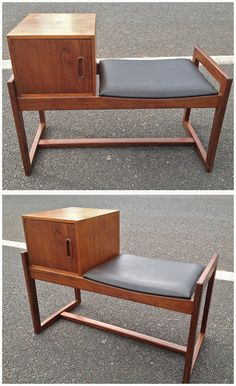 This is a very neat and stylish G-plan telephone seat from the 1960's.