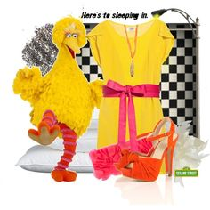 """""""big bird inspired"""" by jenk on Polyvore"""