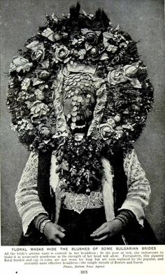 A Bulgarian matrimonial headdress.