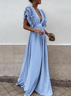 Maxi Dress Summer, Spring Dresses, Modest Dresses, Sexy Dresses, Dresses For Sale, Nice Dresses, Evening Dresses, Awesome Dresses, Blue Maxi Dresses