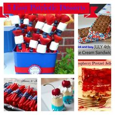 5 Easy Patriotic Desserts that are great for Memorial Day or 4th of July Barbecues  Get Togethers. www.ConcordCottage.com #AmericanaDessert #PatrioticDessert #MemorialDay #4thofJuly