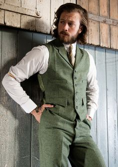 Vintage men's tweed vest and pants at 20th Century Chap