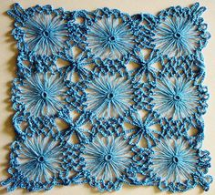 Flower loom & crochet- Great combination!