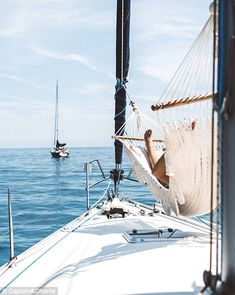 Although Charlie and Captain are desperate to see as much of the world as possible, they are in no hurry to rush the experience budget Meet the couple who quit their jobs to explore the world on a boat Sailboat Living, Living On A Boat, Places To Travel, Places To Go, European Summer, Sail Away, Catamaran, Sailing Yachts, Luxury Yachts