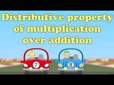 Distributive Property of Multiplication over Addition. This property is useful for multiplying large numbers in a faster and easier way. Let us take an examp. Math Properties, Properties Of Multiplication, Math Games, Math Activities, Math Songs, Distributive Property Of Multiplication, Multiplication Songs, Commutative Property, Go Math
