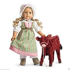 New American Girl Caroline's Play Set Calf Garnet & Work Dress NIB NRFB No Doll