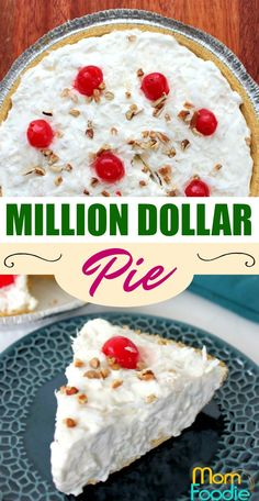 Million Dollar Pie Recipe featuring pineapple and Cool Whip. can use sugar-free Cool Whip Pies, Cool Whip Desserts, Great Desserts, Delicious Desserts, Summer Desserts, Recipe Using Cool Whip, Recipes With Cool Whip, Pineapple Pie Recipes, Million Dollar Pie Recipe Pineapple