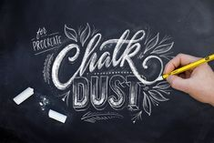 Chalk Dust - Procreate Lettering Kit by Ian Barnard on @creativemarket