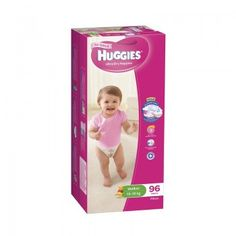 NOW $49.99 (Was $59.99) on Huggies Nappies Walker Girl 13-18kg Mega 96s @ Nappies Direct - Bargain Bro